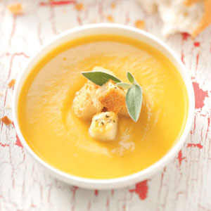 Butternut Soup with Parmesan Croutons Recipe