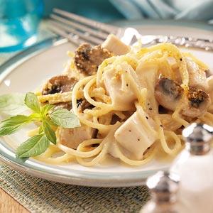Mushroom Turkey Tetrazzini Recipe