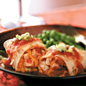 Baked Chicken Chimichangas Recipe