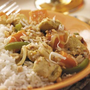 Curry Chicken Tenderloin with Sweet Potatoes Recipe