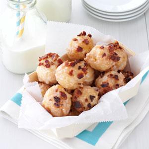 Maple-Bacon Doughnut Bites Recipe