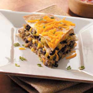Black Bean Tortilla Pie Recipe