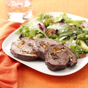 Tenderloin with Cremini-Apricot Stuffing Recipe