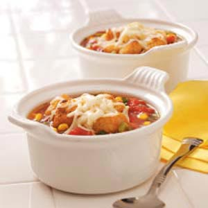 Cheese-Topped Vegetable Soup Recipe