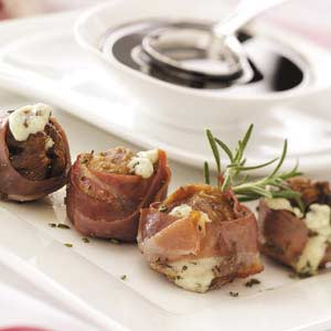 Gorgonzola Figs with Balsamic Glaze Recipe