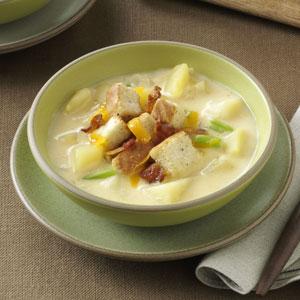 Cream of Potato & Cheddar Soup Recipe