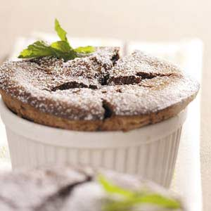 Chocolate Mint Souffles Recipe