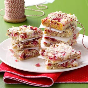 Chewy Cranberry Pecan Bars Recipe