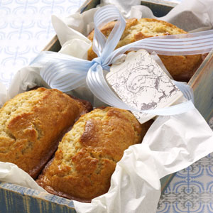 Eggnog Mini Loaves Recipe