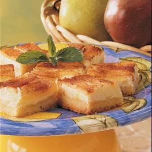 Pear Custard Bars Recipe