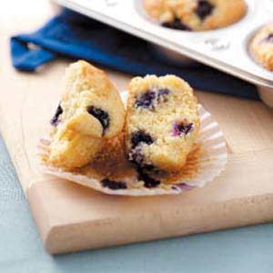 Blueberry Peach Muffins Recipe