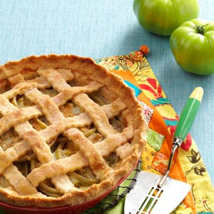 Green Tomato Lattice Pie Recipe