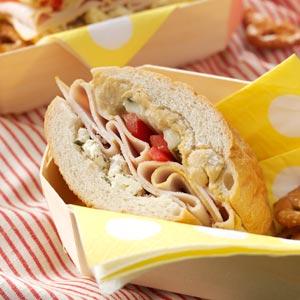 Hearty Turkey & Feta Sandwich Recipe