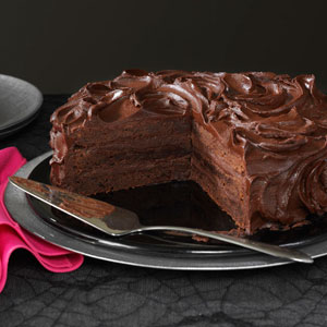 Triple Layer Brownie Cake Recipe