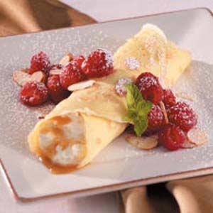 Caramel Cream Crepes Recipe