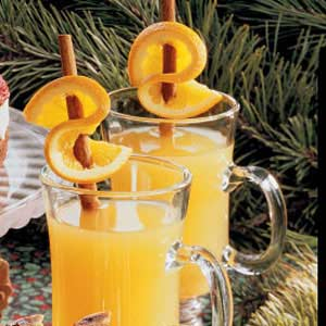 Hot Cider with Orange Twists Recipe
