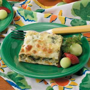 Spinach Cheese Phyllo Squares Recipe