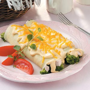 Chicken Broccoli Crepes Recipe