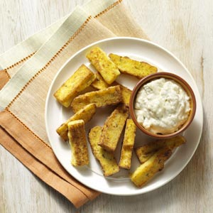 Polenta Fries with Blue Cheese Dip Recipe