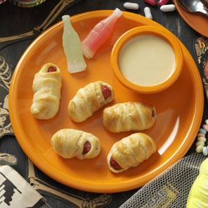 Hot Dog Mummies with Honey Mustard Dip Recipe