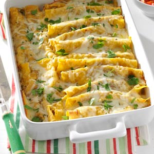 Shrimp Enchiladas with Green Sauce Recipe
