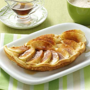 Puffy Apple Omelet Recipe