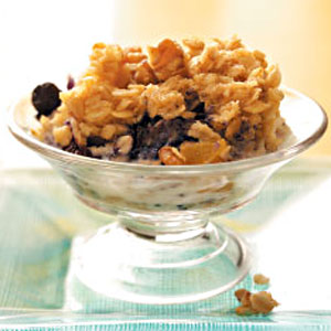 Baked Blueberry & Peach Oatmeal Recipe