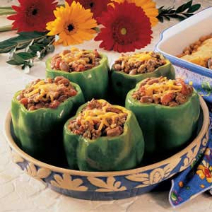 Chili-Stuffed Peppers Recipe