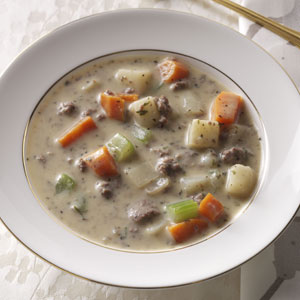 Makeover Beef & Potato Soup Recipe