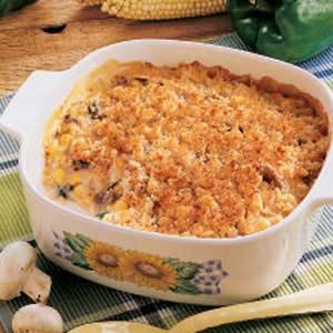Mushroom Corn Casserole Recipe