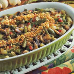 Asparagus Mushroom Casserole Recipe