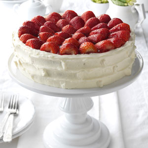 Strawberry Walnut Torte Recipe