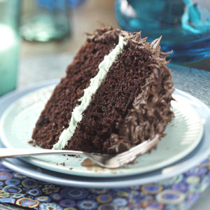 Makeover Chocolate Mint Layer Cake Recipe