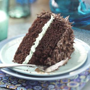 Makeover Chocolate Mint Layer Cake Recipe