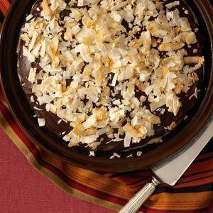 Susie's Dark Chocolate-Coconut Pie Recipe