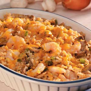 Makeover Shrimp Rice Casserole Recipe