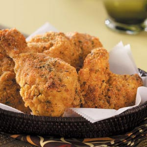 Cornmeal Oven-Fried Chicken Recipe