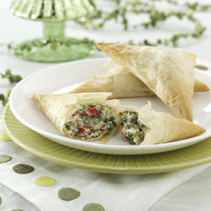 Ricotta Sausage Triangles Recipe