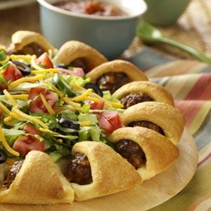 Taco Meatball Ring Recipe
