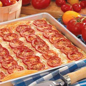 Tomato-Onion Phyllo Pizza Recipe