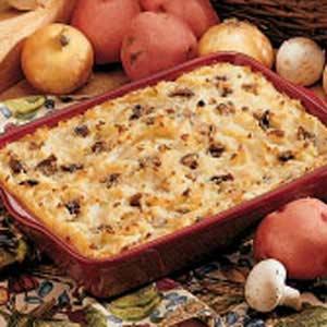 Creamy Mushroom-Potato Bake Recipe