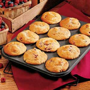 Berry Cream Muffins Recipe