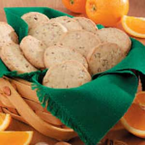 Orange-Pecan Icebox Cookies Recipe