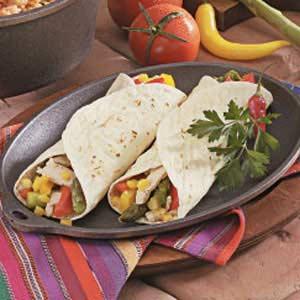 Asparagus Chicken Fajitas Recipe