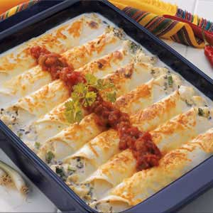 Makeover Creamy Halibut Enchiladas Recipe