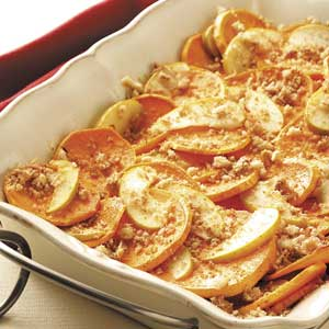Sweet Potatoes and Apples Au Gratin Recipe