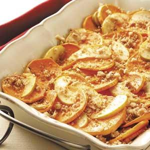 Sweet Potatoes and Apples Au Gratin Recipe