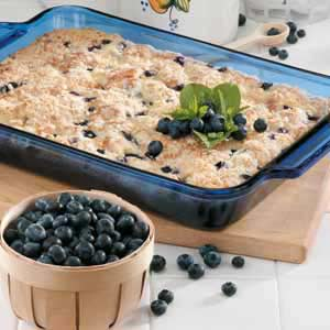 Blueberries 'N' Cheese Coffee Cake Recipe