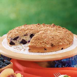 Blueberry Oatmeal Coffee Cake Recipe