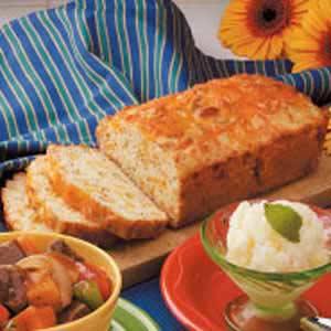 Cheesy Onion Quick Bread Recipe